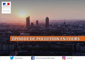 Activation du niveau d'alerte N1pollution de l'air - particules fines - bassin zone des Coteaux
