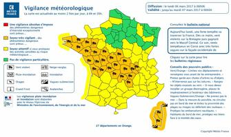 Alerte orange de Météo France :